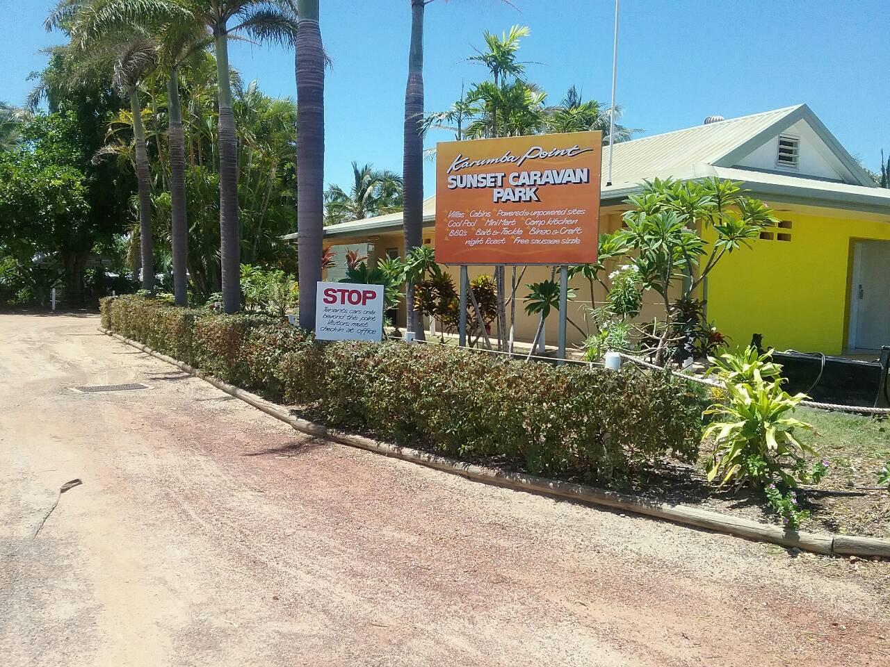 Park Entrance Karumba Point Sunset Caravan Park