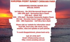 Karumba Point Sunset Caravan Park Upcoming Events 2014