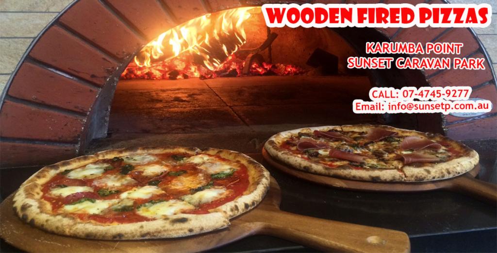 Wood Fired Pizzas at Karumba Point Sunset Caravan Park
