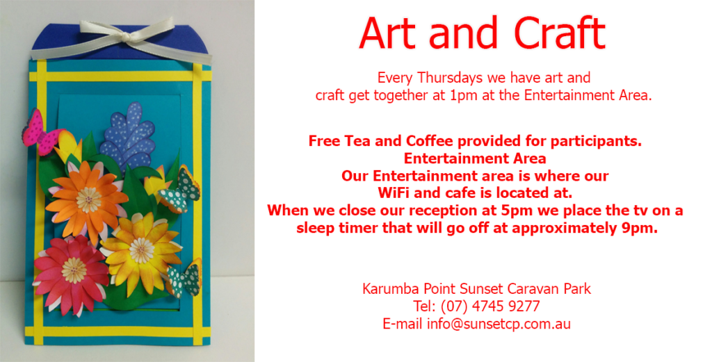 Art and Craft Karumba Point Sunset Caravan Park