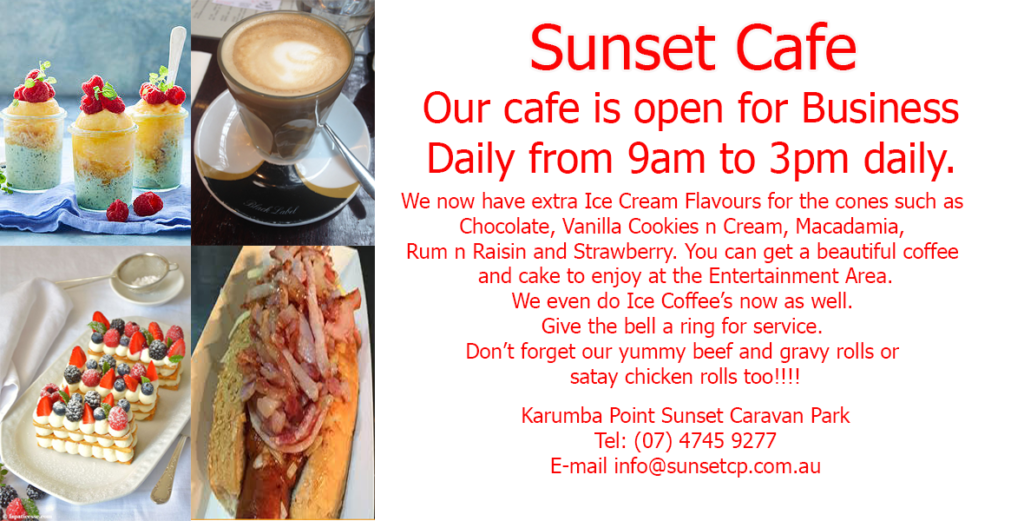 Sunset Cafe Entertainment Area Karumba Point Sunset Caravan Park June