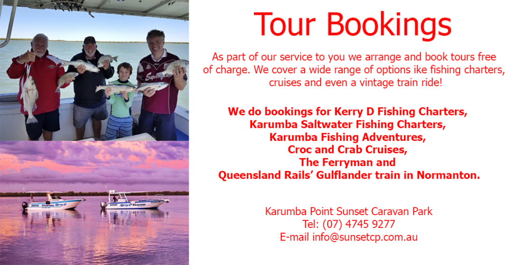 Tour Bookings Karumba Point Sunset Caravan Park
