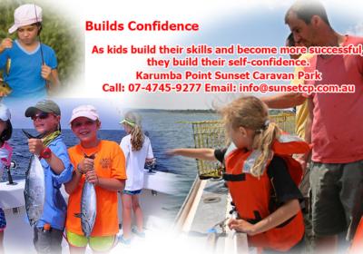 Builds Confidence Bring Children at Karumba Point Sunset Caravan Park