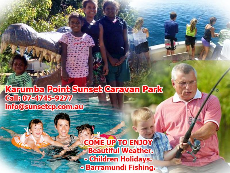 Karumba Point Sunset Caravan Park Beautiful Sunset Children Weather Barramundi Holidays
