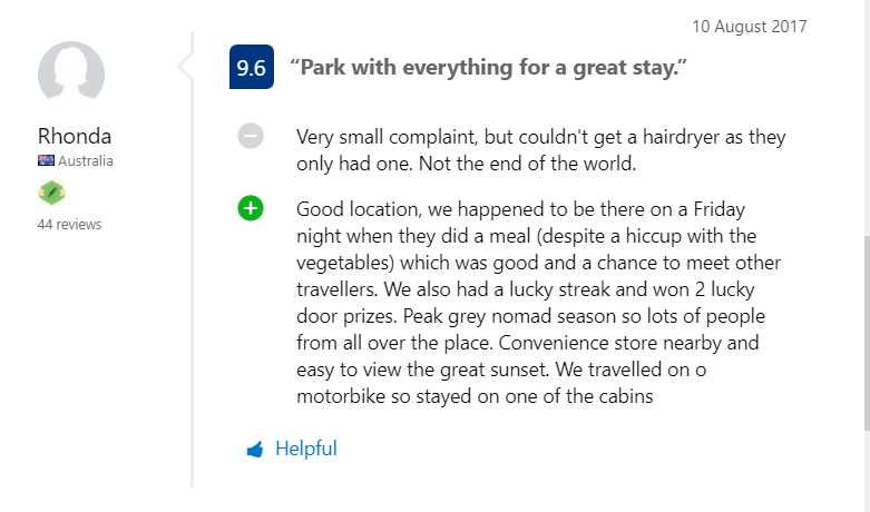 Booking.com Good location, we happened to be there on a Friday night when they did a meal 10 August 2017