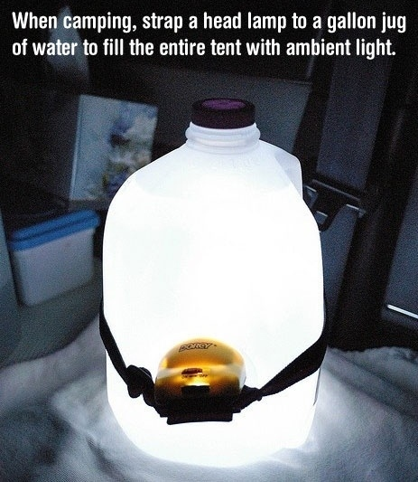 Create a makeshift lantern