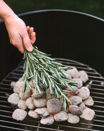 Smoke it with rosemary