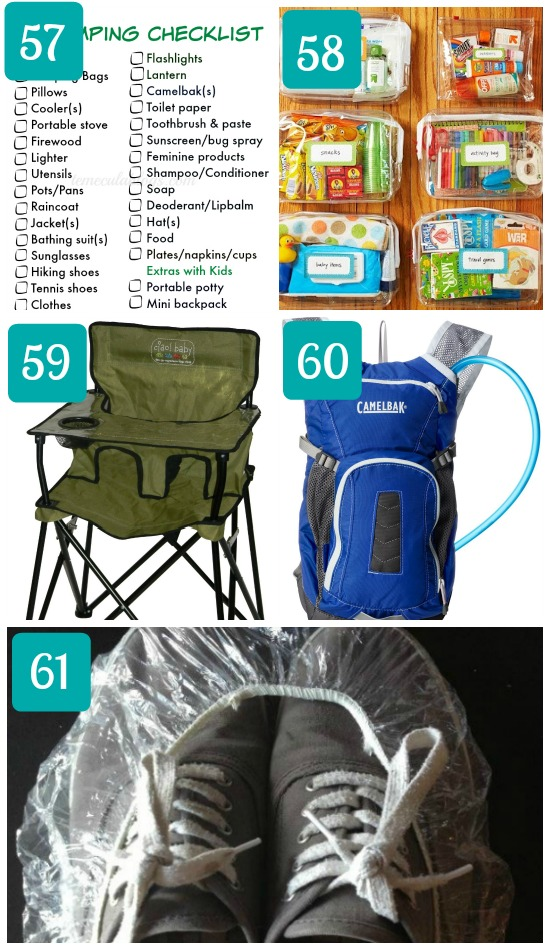 Camping with kids packing