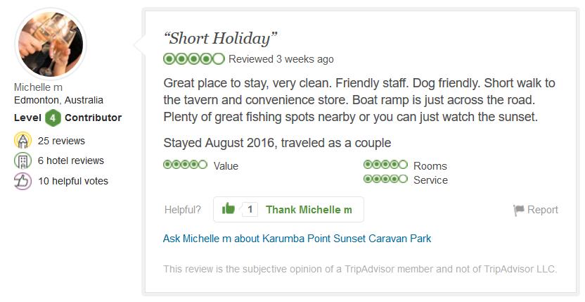 19-testimonial-review-karumba-point-sunset-caravan-park-short-holiday