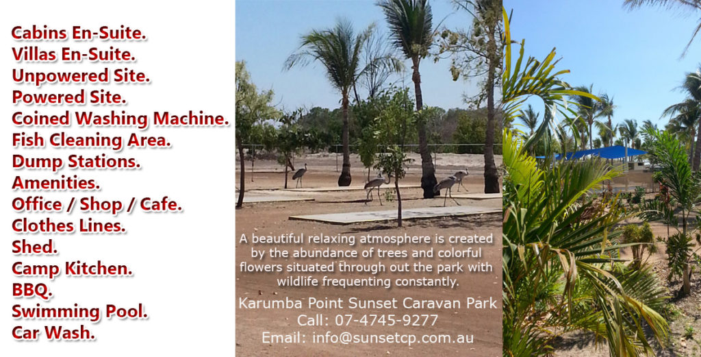 Facilities Servcies Tourist Attraction Karumba Point Sunset Caravan Park