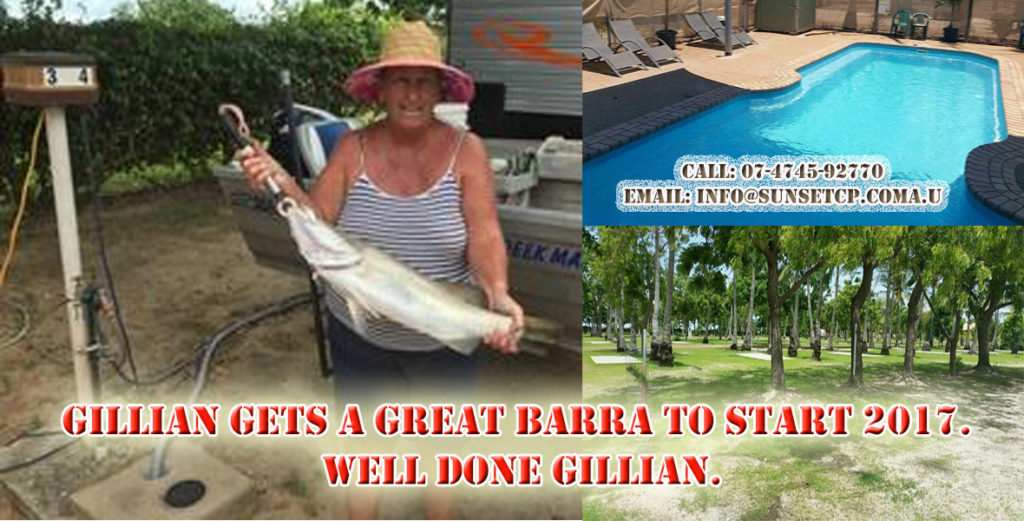 Karumba Update News for Anglers Gillian gets a great Barra to start 2017