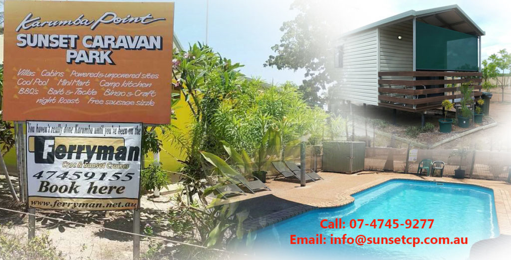 Karumba Point Sunset Caravan Park Accommodation Ensuited Cabins Villas Swimming Pool
