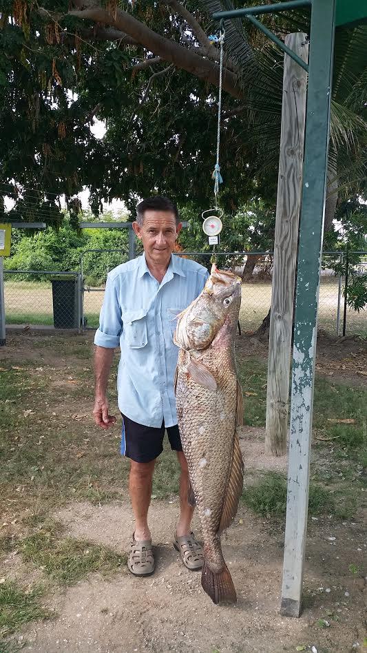 Brian Coates 1.34 metre Jew Fish catch.