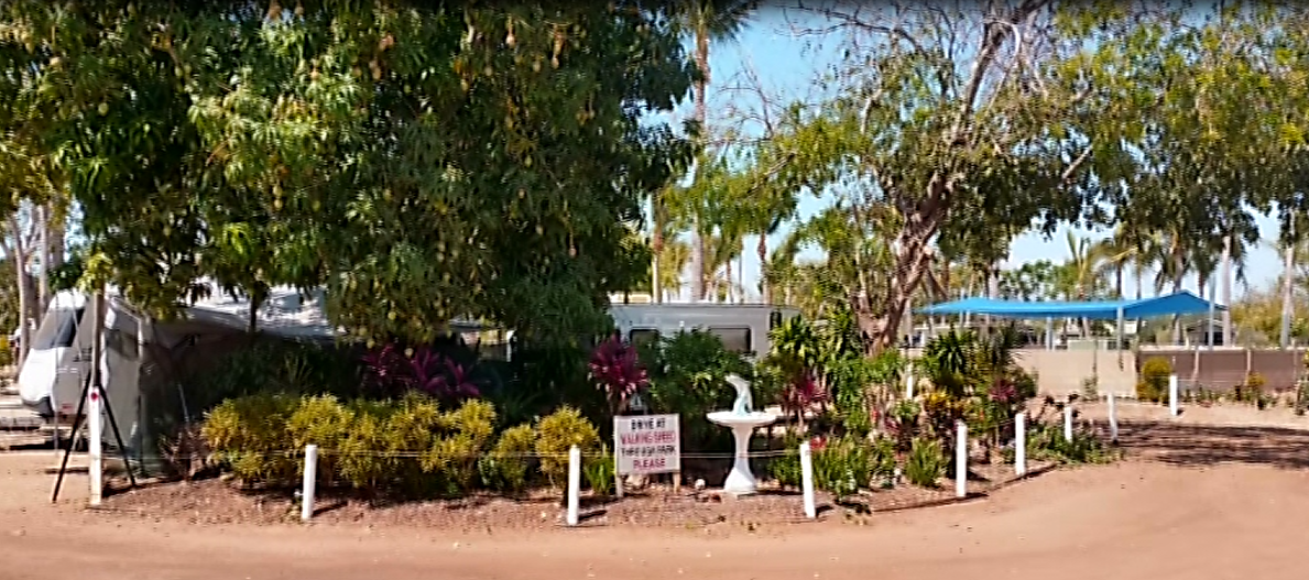 A Beautiful View of Karumba Point Sunset Caravan Park from Outside the Park