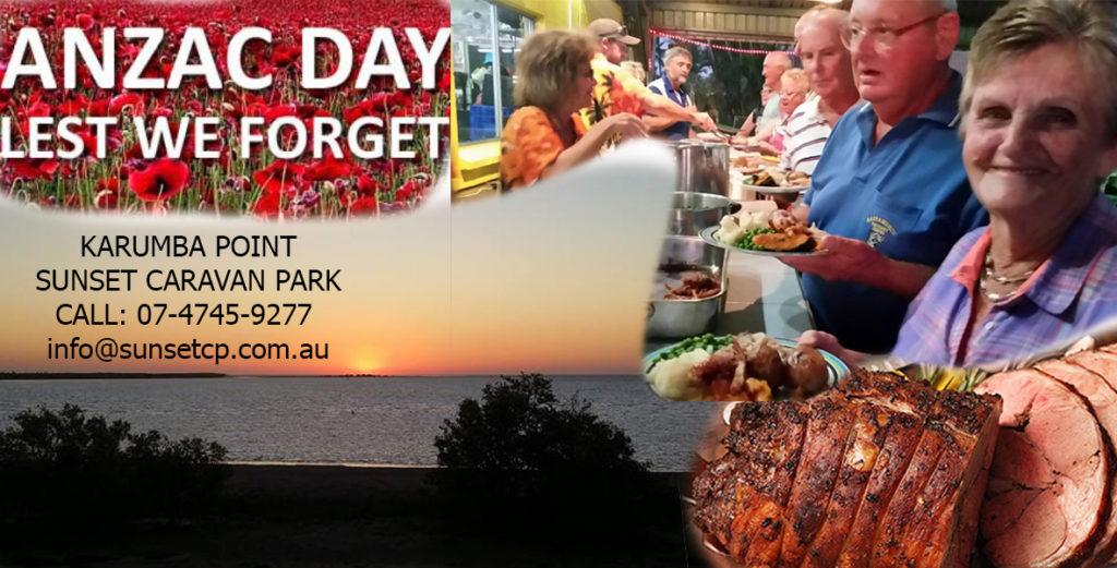 Anzac Day Karumba Point Sunset Caravan Park