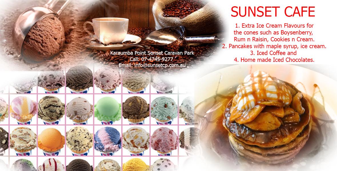 Sunset Cafe Iced Cream Iced Coffee Karumba Point Sunset Caravan Park