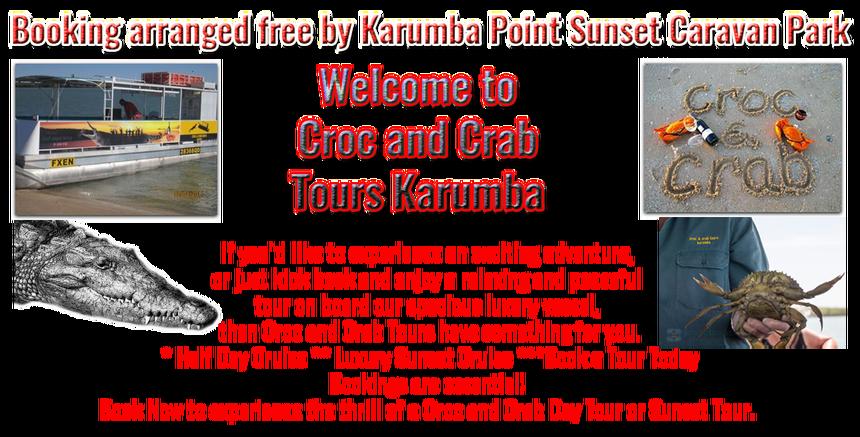 Croc and Crab Tours Karumba Point Sunset Caravan Park Tour Booking