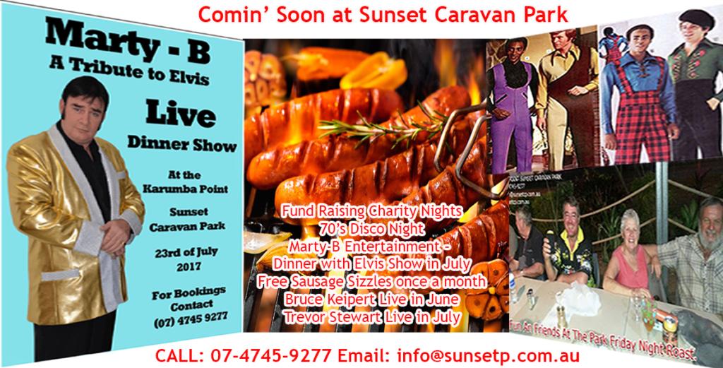 Comin' Soon at Sunset Caravan Park