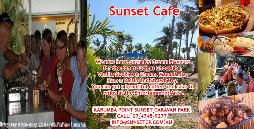 Sunset Cafe Arrangement Karumba Point Sunset Caravan Park