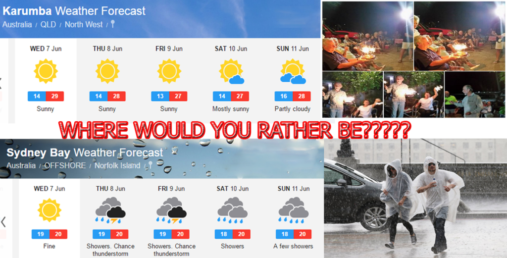 Karumba and Sydney Weather Forecast June 2017 Karumba Point Sunset Caravan Park