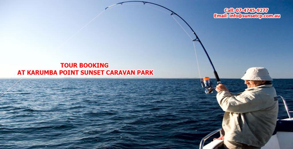 Fishing Tour Booking At Karumba Point Sunset Caravan Park.