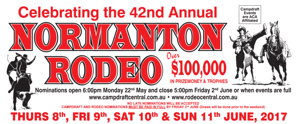It's shaping up to be another BIG weekend at Normanton Rodeo and Campdraft! The draft nominations are HUGE!