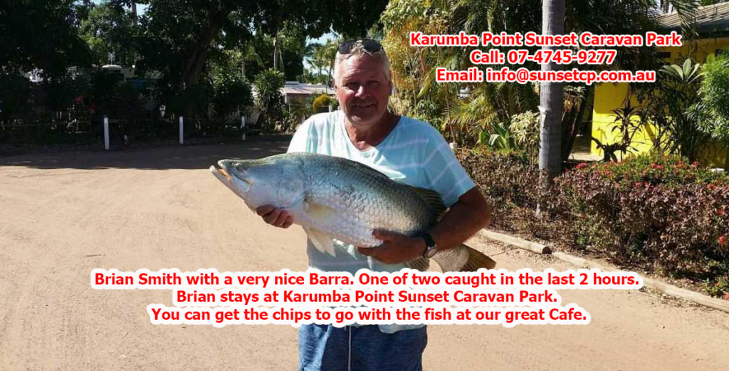 Brian Smith with a very nice Barra. One of two caught in the last 2 hours