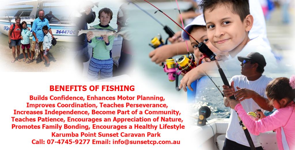 Children Teaching Fishing is Family Bond Strong Karumba Point Sunset Caravan Park