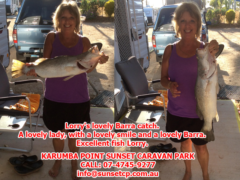 Lorry's lovely Barra catch A lovely lady, with a lovely smile and a lovely Barra