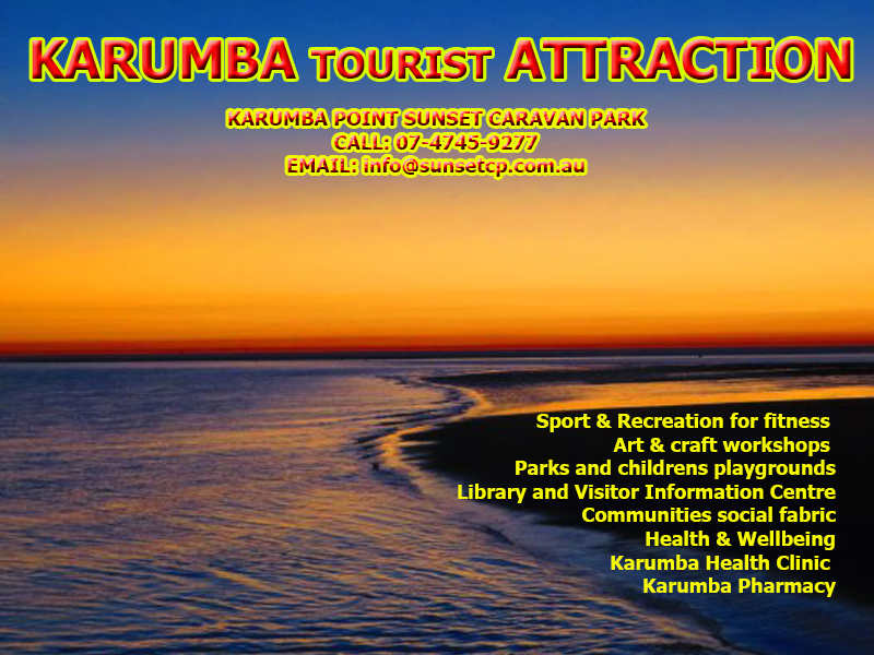 Tourist Attraction Karumba Point Sunset Caravan Park Activities Clinic several community parks