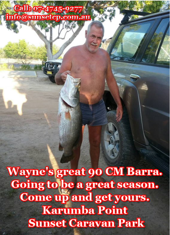 Wayne's great 90 CM Barra. Going to be a great season