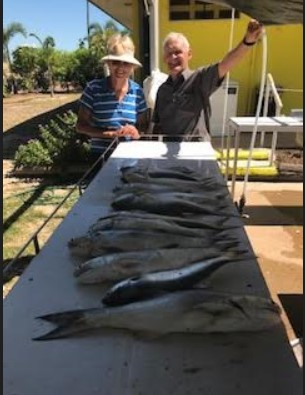 WAYNE AND ANNE had a great stay at Karumba Point Sunset Caravan Park and got a very nice fish haul with Kerry Dee. Thanks for your stay Wayne and Anne.