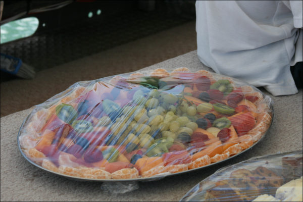 Ferryman River Cruises Complimentary Fruit platters, Cheese Meat Savories Platters, Crisps, ETC