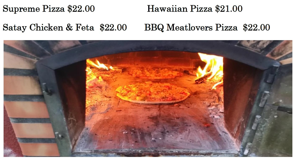 Karumba Point Sunset Caravan Park Special Pizza