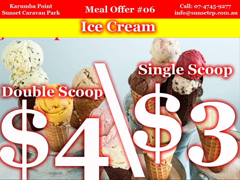 Meal Offer #06 a double scoop ice cream cone for $4