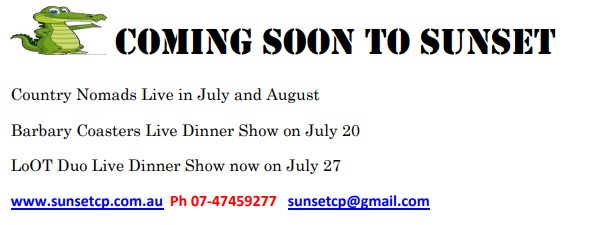 Coming Soon To Sunset 2 July 2018